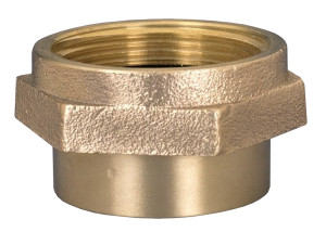 Dixon Powhatan  1 1/2 in. NPT - 1 1/2 in. NH (NST) Brass Double Female Hex Nipple