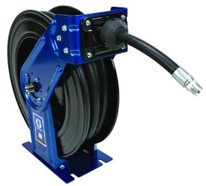 Graco XD 30 3/4 in. Metallic Blue DEF Heavy Duty Spring Driven Hose Reels w/ 50 ft. Hose