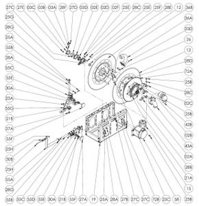 EP/ EPJ/ 7500 Series Power or Crank Rewind Reel Parts - 112T35 Sprocket 19-21 Discs - 72A