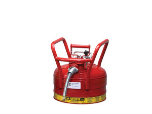 Justrite 2 1/2 Gal UNO D.O.T. Safety Gas Can For Flammables w/ 1 in. Spout (Red)