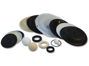 Nomad Elastomer Replacement Santoprene Diaphragms for Wilden 1 in. AODD Pumps - 02-1010-58