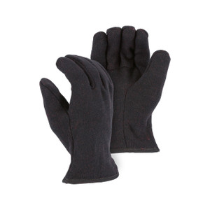 Majestic Brown Jersey Fleece Lined Work Gloves