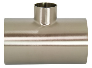 Bradford B7RWWW Series 304 Stainless Polished Reducing Weld Tees
