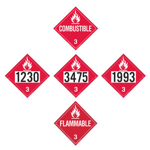 Labelmaster Flammable Liquid Placards - Tagboard