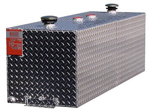 72 Gallon DOT Aluminum Rectangular Split Two Fuel Refueling Transfer Tank