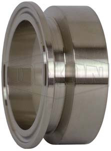 Dixon/Bradford B19MPV Series 316L Stainless Steel Clamp x Schedule 5S Weld Adapters