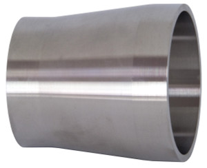Dixon/Bradford B19WX Series 316L Stainless Tube OD Weld x Schedule 10S Weld Adapters