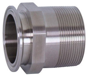 Bradford 21MP Series 304 Stainless 2 in. Clamp x Male NPT Adapters