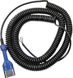 Civacon Dual Ball Plug w/ 30 ft. Black Coiled Cord