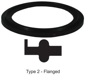 Bradford Flanged Buna-N Gaskets - Black