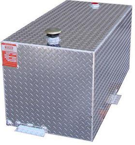 50 Gallon DOT Aluminum Rectangular Refueling Transfer Tank