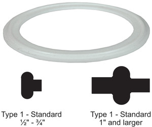 Bradford PTFE Gaskets - Solid White