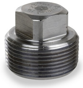 Smith Cooper 3000# Forged Carbon Steel 1/8 in. Square Head Plug Fitting -Threaded