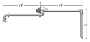 OPW GT-32-F Railcar Top Loading Arm Without Loading Valve Unsupported - Standard Reach