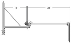 OPW B-32-F Railcar Top Loading Arm Without Loading Valve Supported - Extended Reach