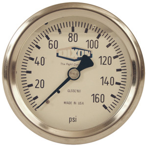 Dixon 2 1/2 in. Dial 1/4 in. Back Mount All Stainless Liquid Filled Gauges