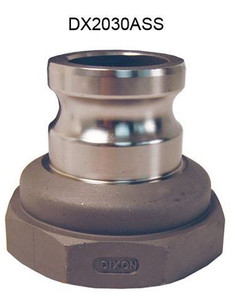 Dixon Stainless Steel Part A Reducing Male Adapter x Female NPT Coupling