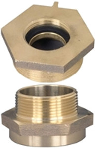 Dixon Brass 3 in. Female to Male Hex Nipples