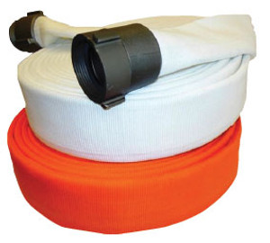 Superior Fire Hose 800# Double Jacket Municipal Fire Hose w/ Aluminum NH (NST) Rocker Lug Couplings - UL Listed