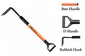 Leatherhead Tools 3 ft. Dog-Bone Rubbish Hook w/D-Handle - Orange