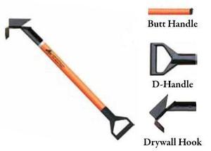 Leatherhead Tools 3 ft. Dog-Bone Drywall Hook w/D-Handle - Orange