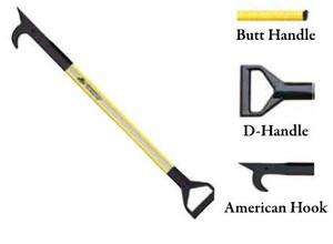 Leatherhead Tools 3 ft. Dog-Bone American Hook w/D-Handle - Yellow