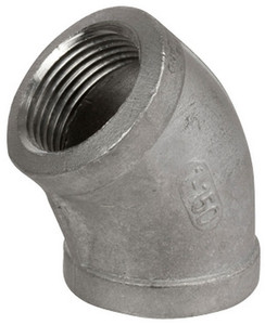 Smith Cooper Cast 150# Stainless Steel 1/2 in. 45° Elbow Fitting - Threaded
