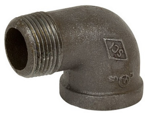 Smith Cooper 150# Black Malleable Iron 1 in. 90° Street Elbow Pipe Fittings - Threaded