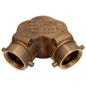 Dixon Powhatan 2-1/2 in. NH (NST) x 4 in. NPT  Double Clapper Siamese Connection Bottom Outlet