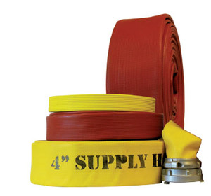 Superior Fire Hose 4 in. Superior Super Flow 600 Rubber Fire Hose w/ Storz Couplings - UL Listed