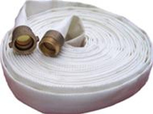 Superior Fire Hose 1 1/2 in. Single Jacket Industrial Hose w/  NH (NST) Aluminum Couplings