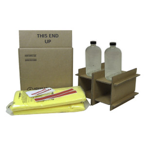 HAZMATPAC Two 32 oz. Bottles w/ PVC Coating Packaging System