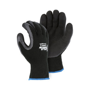 Majestic Polar Penguin Black Hi-Vis Terry Lined ANSI Winter/Freezer Gloves