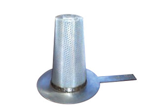 CDR 3 in. 304 Stainless Steel Temporary Basket Strainer w/ Perf and Mesh