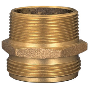Dixon Brass 1 1/2 in. NST (NH) x 1 1/2 in. NST (NH) Male to Male Hex Nipples