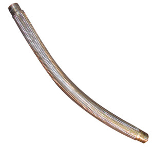 4 in. Stainless Steel Braided Hose Assemblies w/ Male NPT Ends