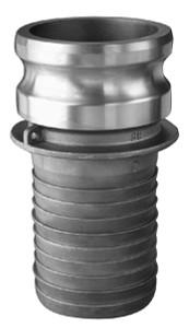 1 in. Aluminum Part E Male Adapter x Hose Shank