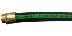 Continental ContiTech 1 1/2 in. AEROPAL Type C-CT Low Temp Aviation Fueling Hose Assemblies w/ Brass NPT Ends
