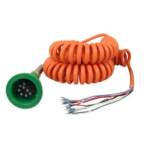 Civacon Green Thermistor Plug & Coiled Cord w/ 2 J-Slot Pins & 8 Contact Pins for Scully System