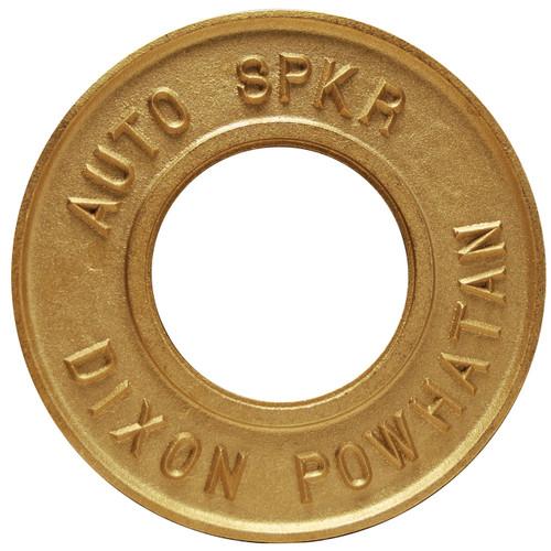 Dixon Powhatan 2 1/2 in. x 3 1/4 in. Round Identification Auto-Sprinkler Plate