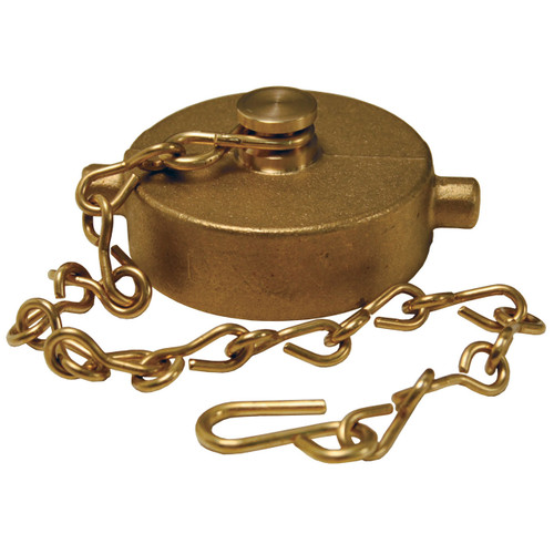 1 1/2 in. NH(NST) Dixon Powhatan Brass Cap & Chain - Pin Lug