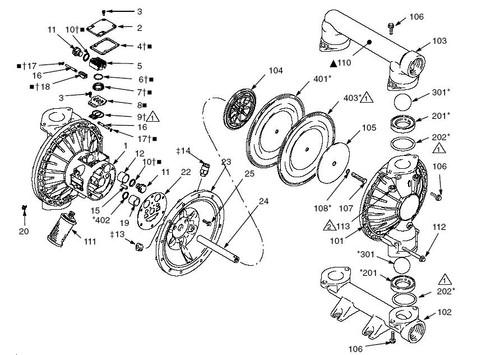 Graco Husky 2150 Diaphragm Pump Air Motor Kit John M