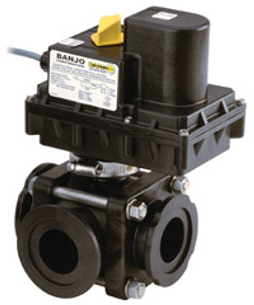 3 Way ON/OFF Electric Valves 3/4 to 1 1/4 Second Response Time