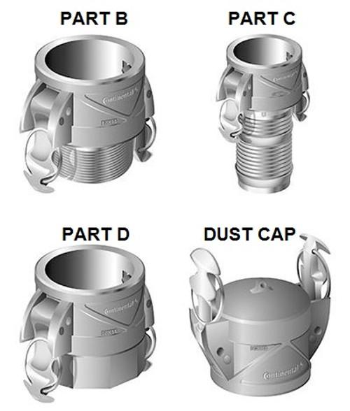2 in. Aluminum Insta-Lock Cam & Groove Fittings