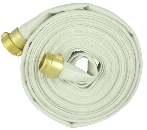 1 1/2 in. Double Jacket Fire Hose Assembly w/ Brass NPSH Couplings