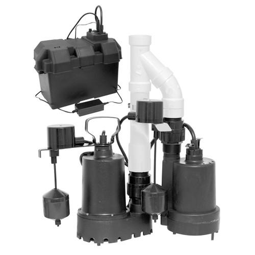 20 GPM Battery Backup Sump Pump Kit