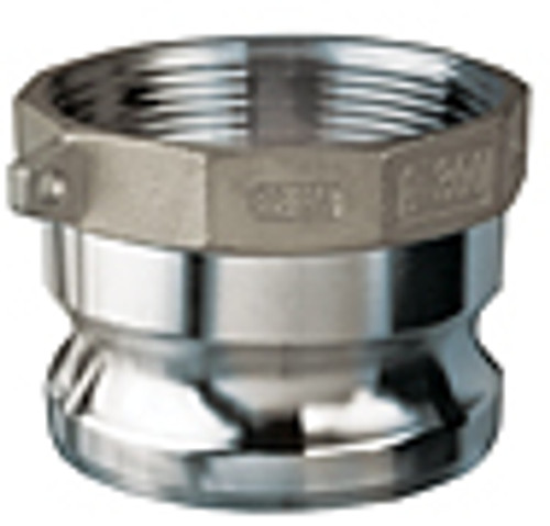 2 in. Stainless Steel Part A Male Adapter x Female NPT