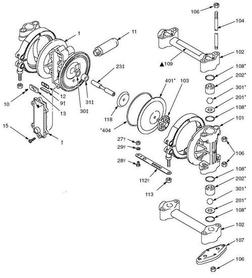 Graco Husky 307 Diaphragm Pump Parts John M Ellsworth