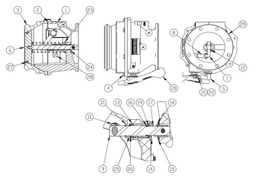 opw 891 api bottom loading adapter parts