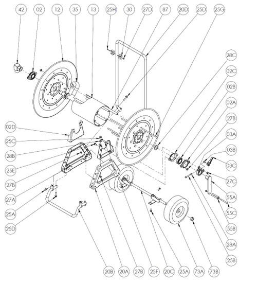 Home Design Ideas Ames Craftsman Cart Type Hose Reel Parts Model